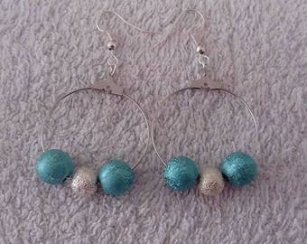 Blue and Silver Earring