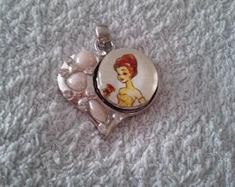 Collier pression princesse + boutons / necklace princess + buttons