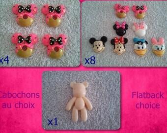 Minnie set and cie cabochon resin choice / choice flatback