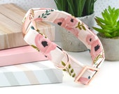 Dog Collar - Watercolor Floral Cotton Fabric Dog Collar - Fashion Dog Collar - Fabric Dog Collar - Rose Gold Hardware - Sandy Paws Collar Co