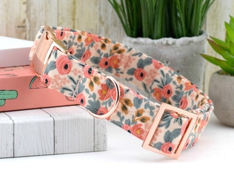 dog collars with flower