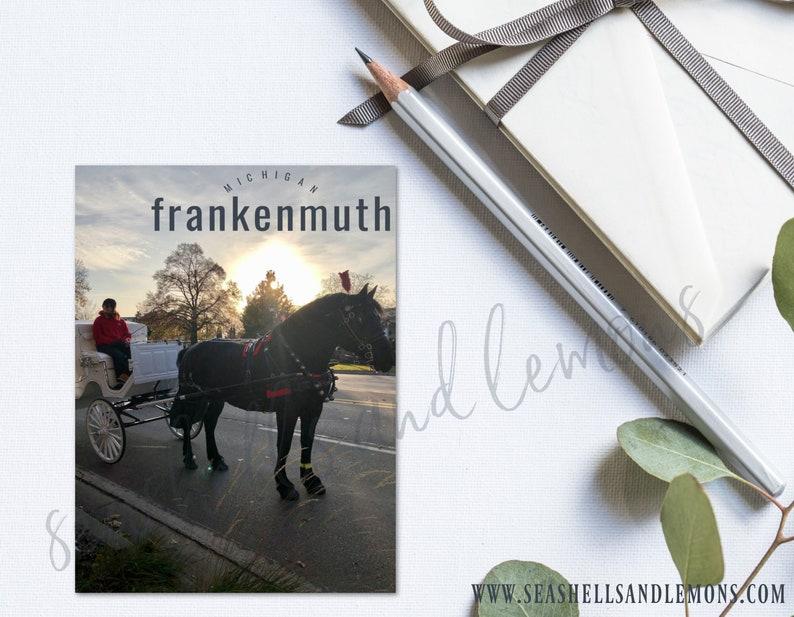 Title Pocket Card  Frankenmuth Michigan  Instant Download image 0