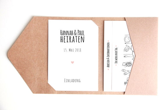 Pocketfold Wedding Invitation H P
