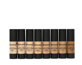 SAMPLE of 2 Shades, Organic Liquid Foundation, Botanical, Aloe Based, Nourishing, Vegan, Non GMO, Gluten Free, Cruelty-Free