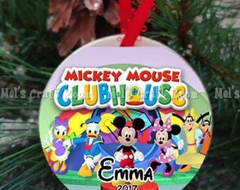 mickey mouse clubhouse personalized ornament - Mickey Mouse Christmas Tree Decorations