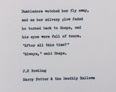 Items similar to After all this time quote/ Harry Potter ...