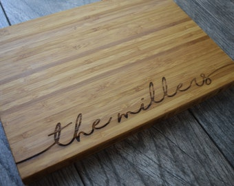 Personalized Cutting Board Personalized Engagement Gift Personalized Wedding Gift for Couples Personalized Gift Personalize Cutting Board
