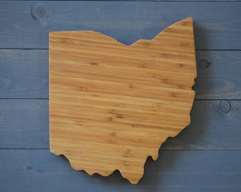 Ohio, Ohio Decor, Ohio State Cutting Board, Ohio State, Ohio State Shape, Home Decor, Kitchen Decor