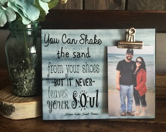 Personalized Picture Frame, You Can Shake The Sand From Your Toes, Vacation Frame, Honeymoon Frame