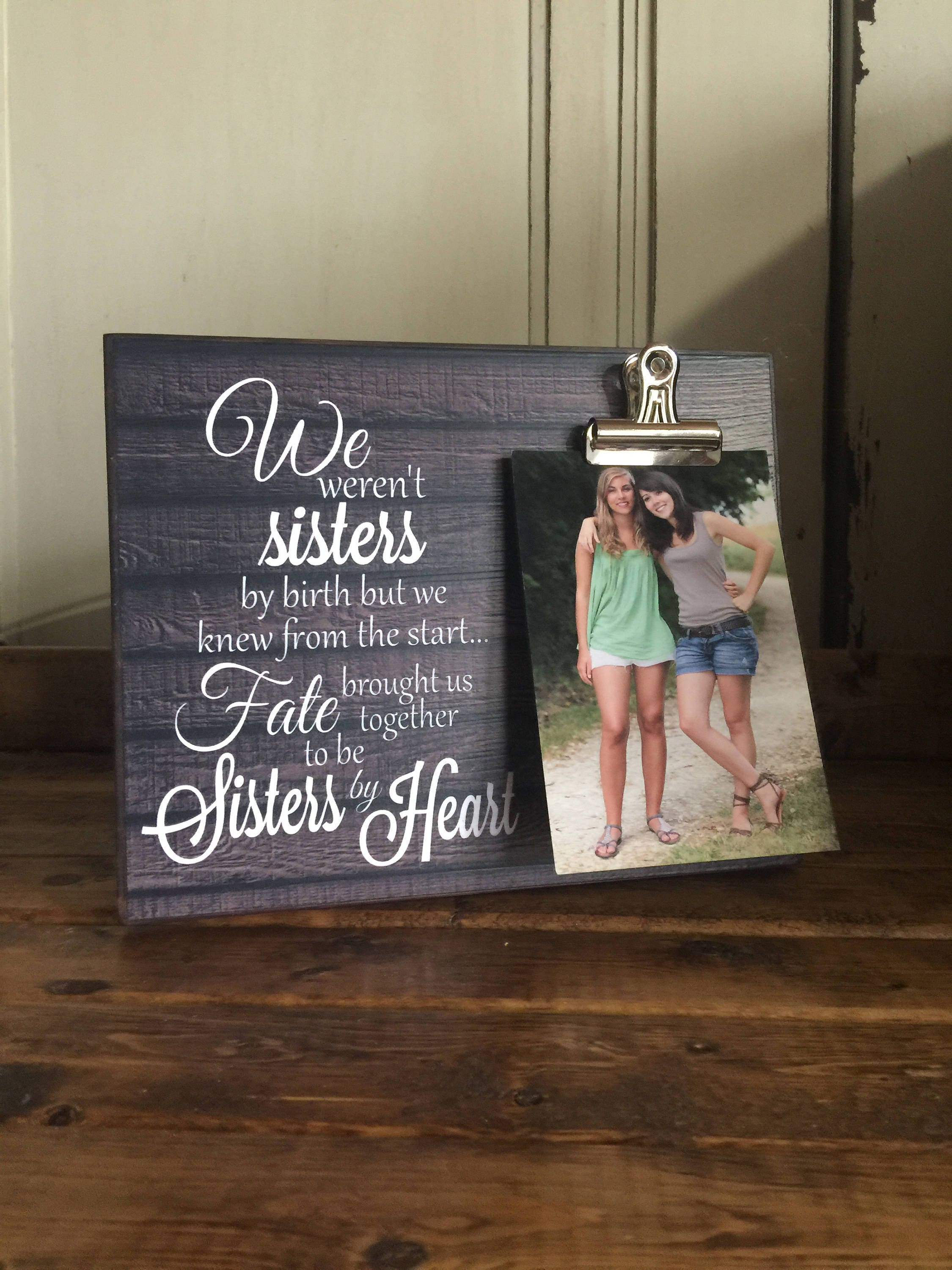 Personalized Picture Frame, Gift For Sister, Gift For Best Friend ...