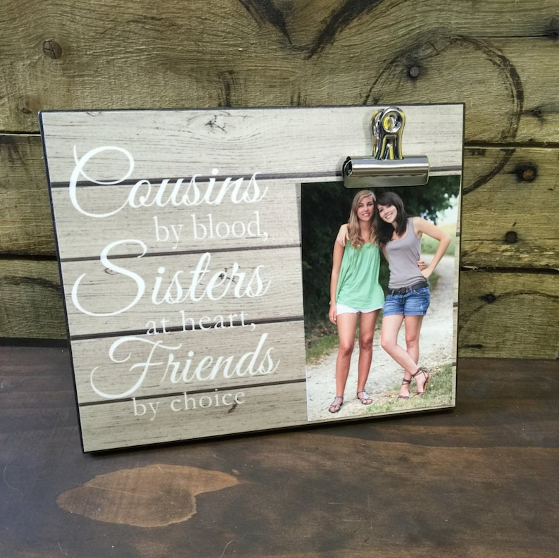 Gift For Sister Gift For Best Friend Cousins by Blood image 0