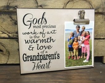 Gift For Grandparent, God's Most Precious Work Of Art Is The Warmth And Love Of A Grandparent's Heart, Christmas Gift