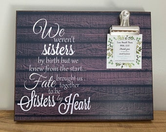 Gift For Sister, Gift For Best Friend, We Weren't Sisters By Birth, Wedding Gift, Bridesmaid Gift, Friendship Gift