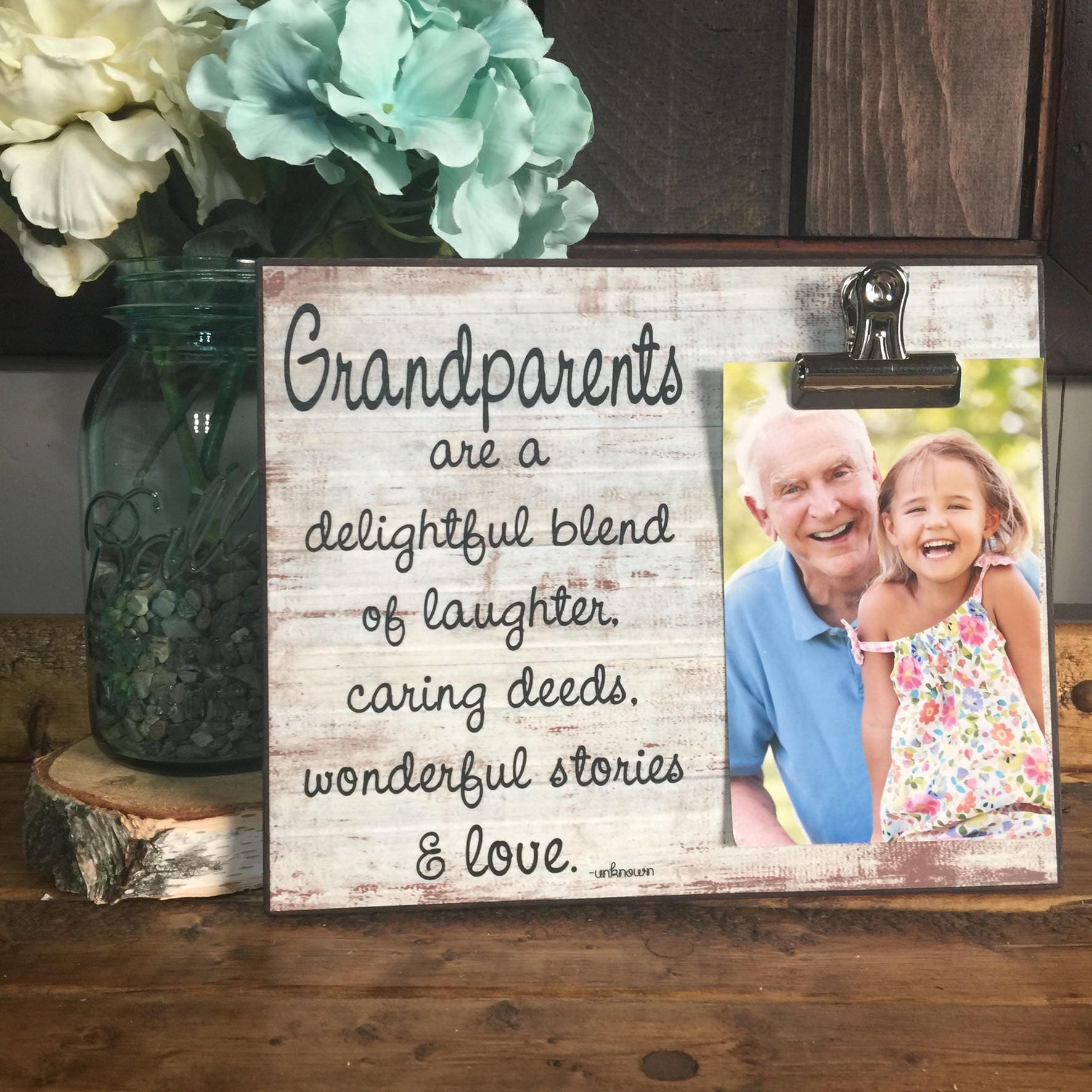 ON SALE, Grandparents Picture Frame Gift, Gift For Grandparents ...