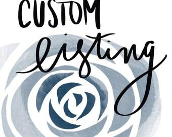 Custom Order for Carlton