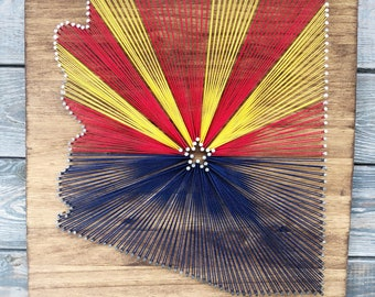 Arizona flag string art