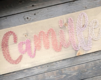 Ombré String Art Name Board