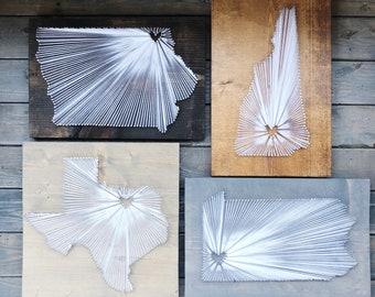 Single state string art