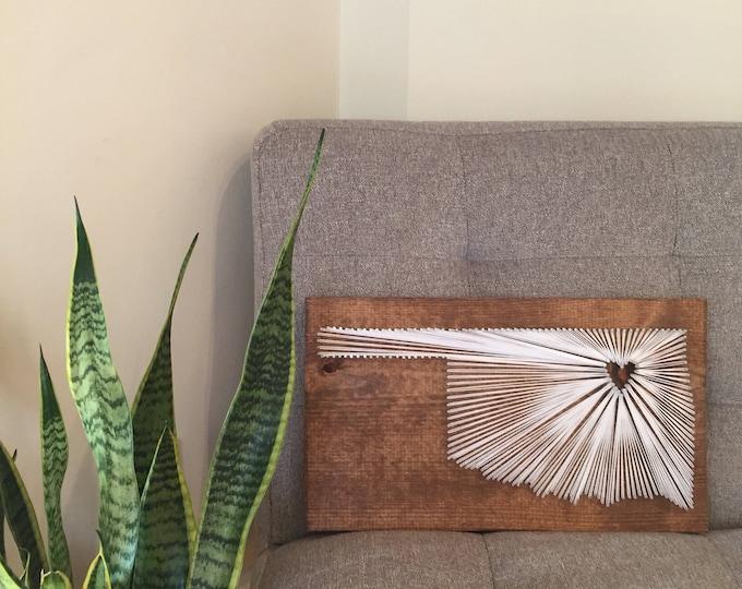 Featured listing image: Oklahoma String Art/ Oklahoma Sign/ Oklahoma gift