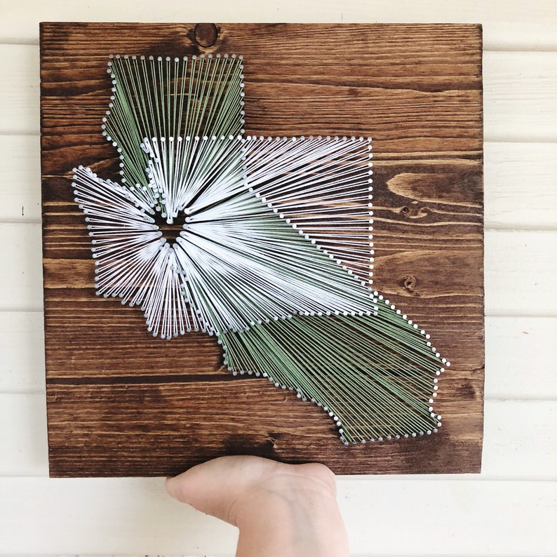 long distance boyfriend gift/ two state string art sign image 0