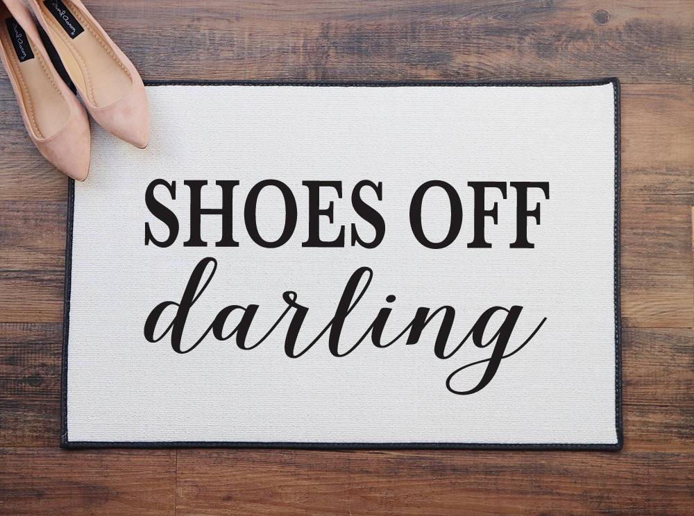 chaussures chérie paillasson, paillasson, paillasson, intérieur / extérieur tapis, cadeau de pendaison de crémaillère, porche decor, décoration intérieure, drôle de cadeau de noël 7748f2