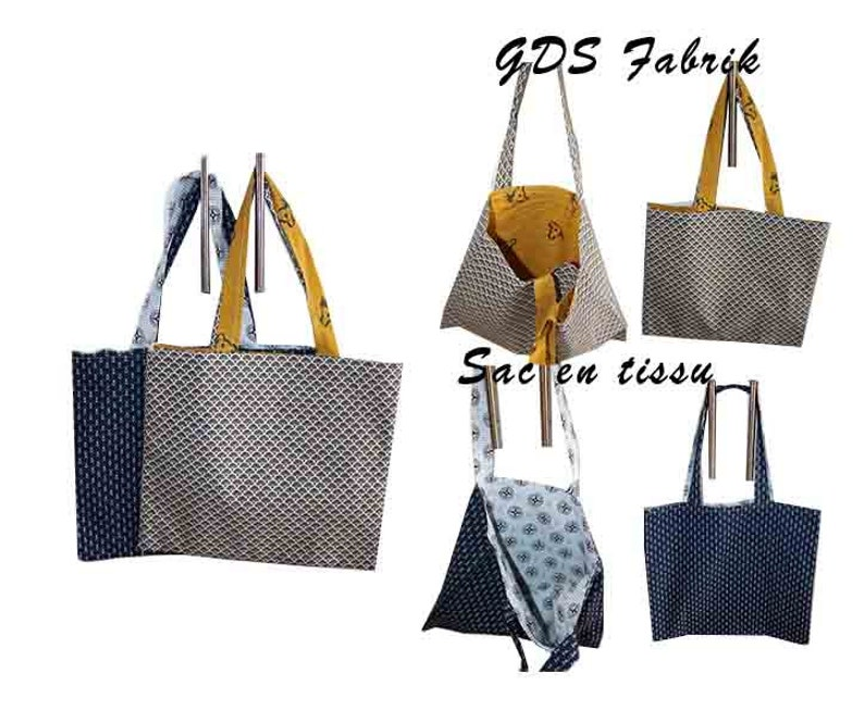 Tot/'bag reversible fabric bag