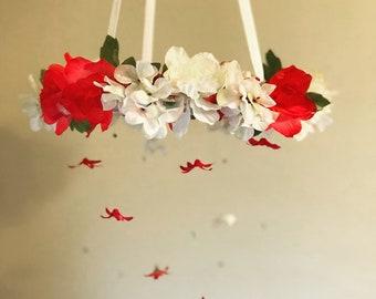 Simple flower mobile