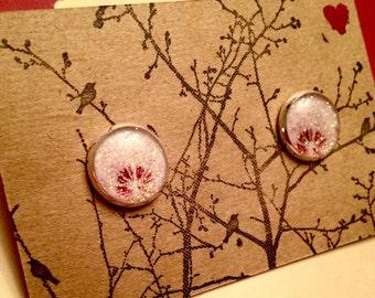 Dandelion Glitter 12mm post earrings