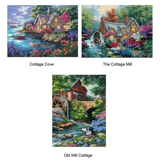"""COTTAGE COVE DIMENSIONS Needlepoint Kit 16/"""" x 12/"""""""