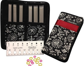"ChiaoGoo Double Point Stainless Steel 6"" Knitting Needles Set #6600"