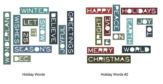 Sizzix Thinlits Cutting Dies By Tim Holtz Holiday Words 661600