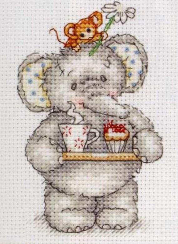 913 Cross Stitch Kit éléphant Art
