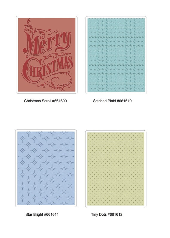 Plaid by Tim Holtz Sizzix Texture Fades Embossing Folder