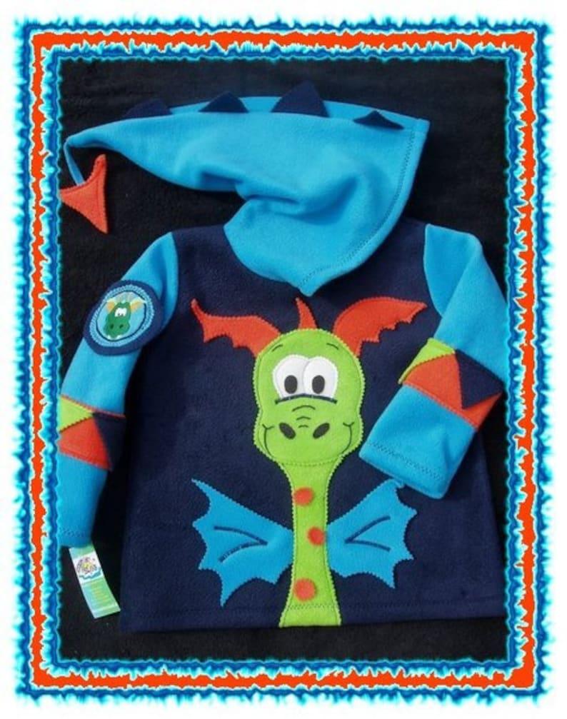 FuNNy DragoN boys fleece hOOdie custom size