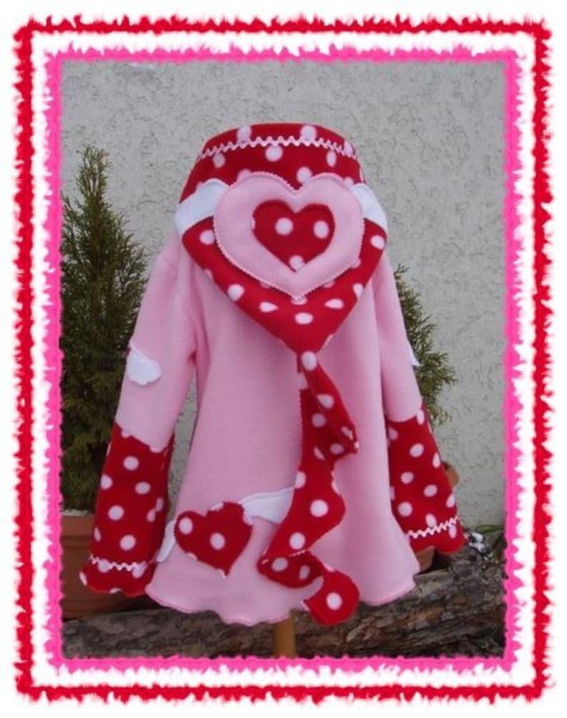 fleece pullover cat pullover hoodie kitten sweater hOOdie * Hearts Wings /& Cats * custom  size 2T-8T