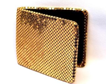 Fantastic VINTAGE 1940's Gold Mesh Lame Folding Billfold Wallet Change Purse Made in West Germany