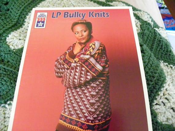 Knitting Pattern Book Lp Bulky Knits By Knit Across America Etsy