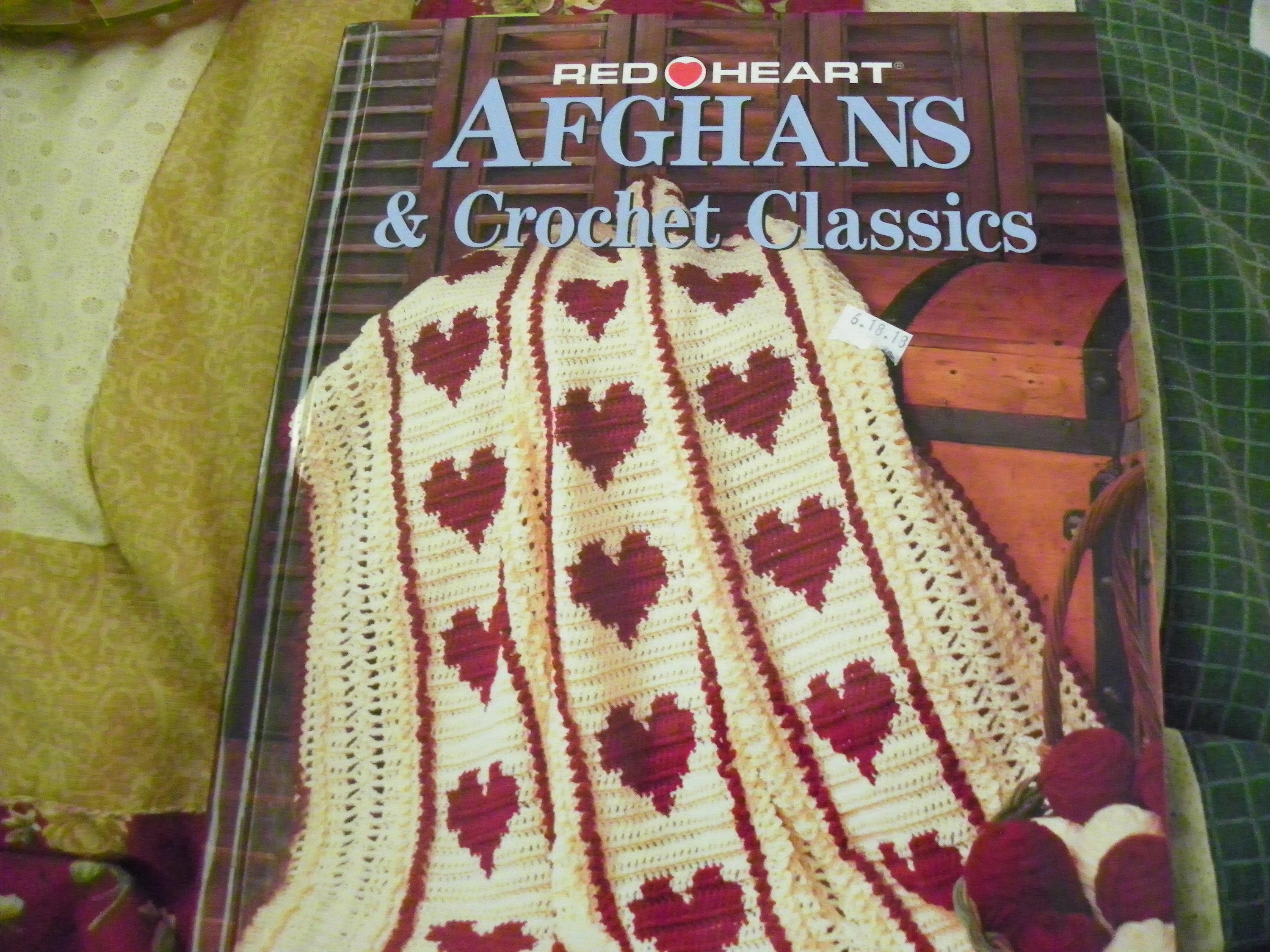 Crochet Pattern Book Red Heart Afghans Crochet Classics Etsy