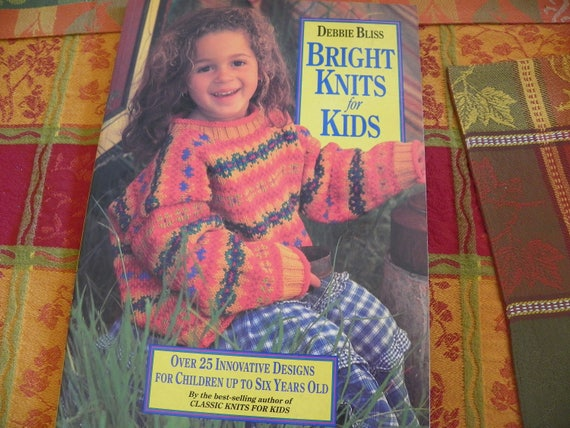 Knitting Pattern Book Debbie Bliss Bright Knits For Kids Etsy