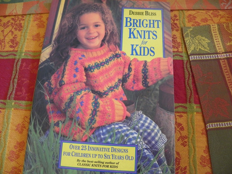 Debbie Bliss Bright Knits For Kids Knitting Pattern Book Etsy