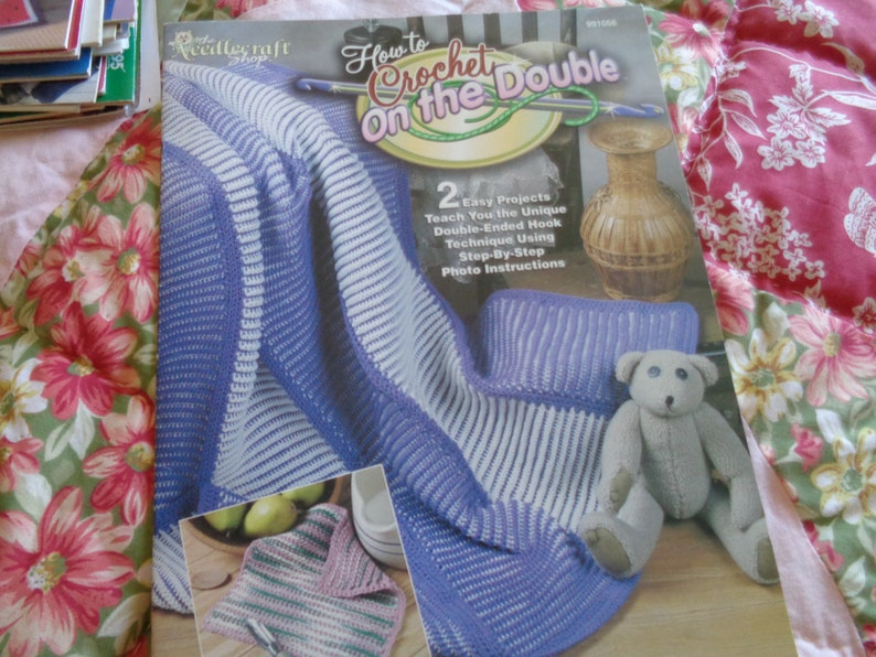 How To Crochet On The Double 2 Easy Project Patterns Teach Etsy