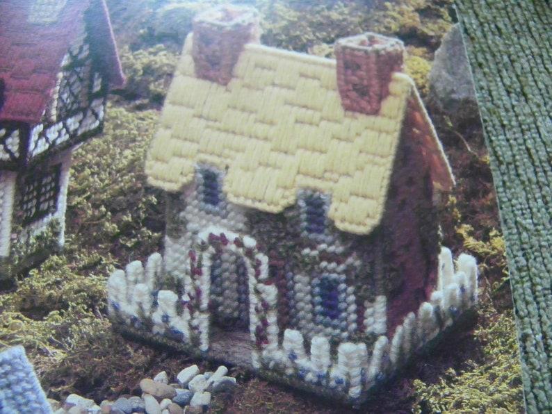 Plastic Canvas Pattern Book Cozy Cottages Five Charming Potpourri Containers Village