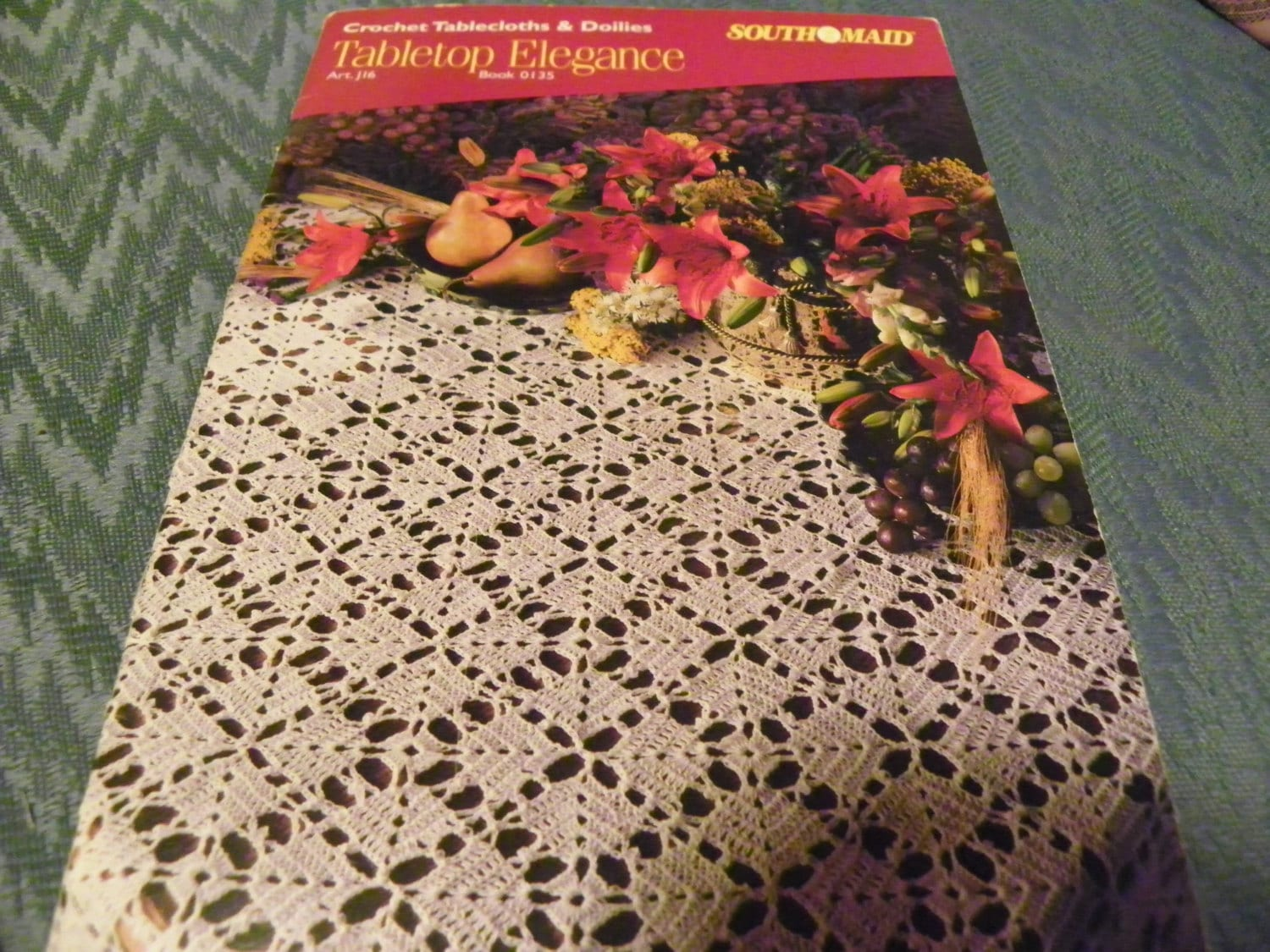 Crochet Pattern Book Of Tablecloths And Doilies Tabletop Etsy