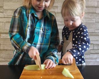 Safe wooden children's knife Chop Chop maple wood