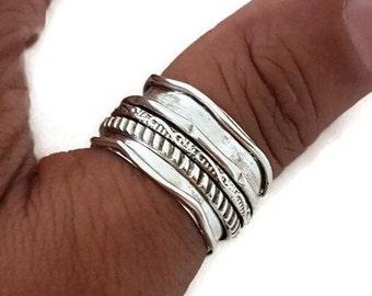 Silver Spinner Ring, Spinning Ring Women, Chunky Thumb Ring, Silver Ring Men, Wide Spin Ring, Meditation Ring, Mistry Gems, SP37