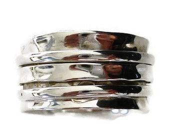 STIFF Spinner Ring, Spinning Ring, Meditation Ring, Chunky Silver Thumb Ring, Spinner Ring for Men, Spinner Ring Women, Mistry Gems, SP44
