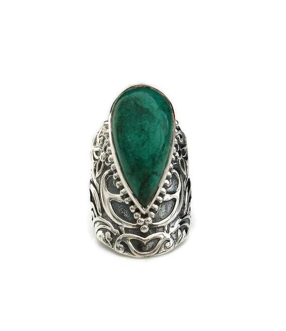 Années 1970 Handmade Navajo Festonné Bord Relevé .925 solid sterling silver ring