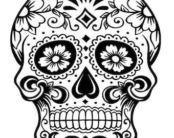 Sugar skull svg | Etsy