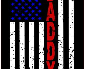 Daddy distressed flag SVG File, Quote Cut File, Silhouette File, Cricut File, Vinyl Cut File, Stencil