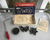 Vintage Schulte Waffelbackerei Waffle Maker with Rosettes in Original Box